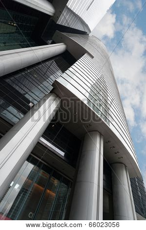 HONG KONG - SEPTEMBER 30, 2011: Modern building of Citibank located on Hong Kong Island. Citibank began operations in Hong Kong in 1902, has a network of 48 branches spread over Hong Kong and Macau.