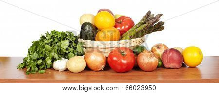 Set of vegetables. Healthy food and diet background.