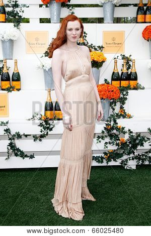JERSEY CITY, NJ-MAY 31: Singer Karen Elson attends the 7th Annual Veuve Cliquot Polo Classic at Liberty State Park on May 31, 2014 in Jersey City, NJ.