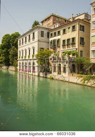 Riverside apartments in Treviso, Italy
