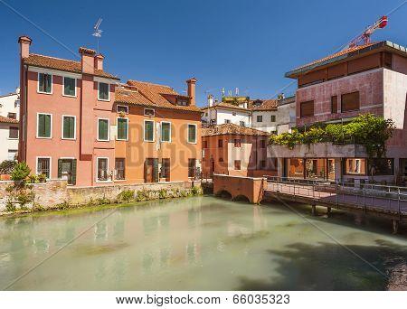 Colourful buildings, Treviso, Veneto, Italy