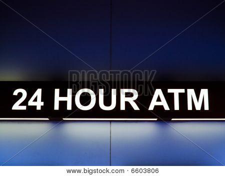 24 Hour Atm Sign