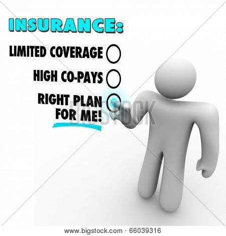 Insurance choices right plan for you versus limited coverage and high copays