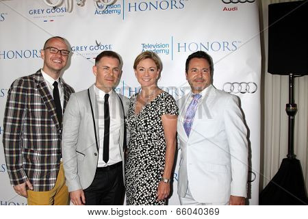 LOS ANGELES - JUN 1:  Peter Paige, Bradley Bredeweg, Joanna Johnson, Greg Gugliotta at the 7th Annual Television Academy Honors at SLS Hotel on June 1, 2014 in Los Angeles, CA