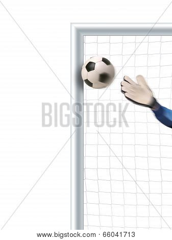 goalkeeper trying to defend