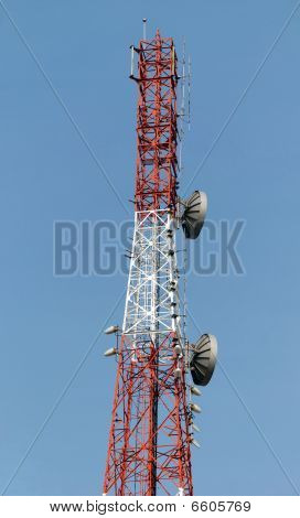 Communications Tower/ Mast and Various Antennae