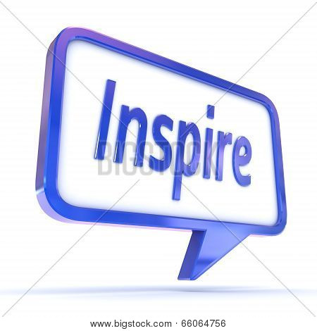 Speech Bubble Inspire