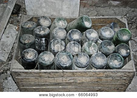 Old green bottles