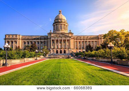 Capitol building in Frankfort, Kentucky poster