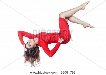 Woman Hanging In The Air.