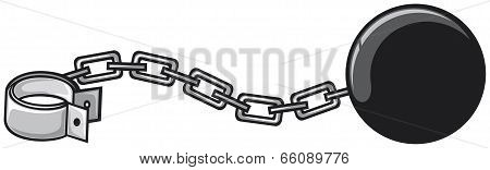 iron chain with shackle
