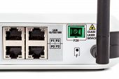 Passive Optical network Detail of end user fiber optic GPON terminal with wifi and catv connection poster