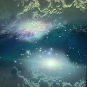 Deep space scene poster