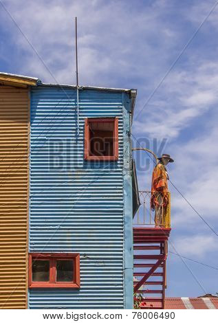 Colorful Houses In Caminito Street Of La Boca In Buenos Aires