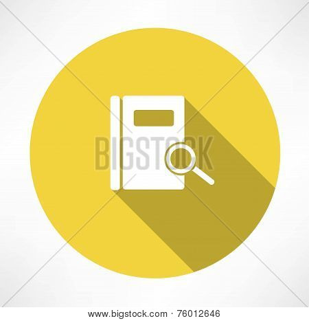 Sear in notepad icon. Flat modern style vector illustration poster