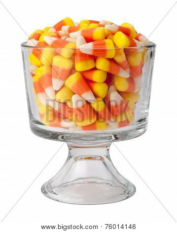 Candy Corn In A Dessert Glass