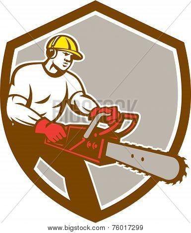 Lumberjack Tree Surgeon Arborist Chainsaw Shield