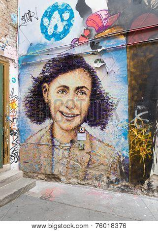 Anne Frank Mural In Berlin