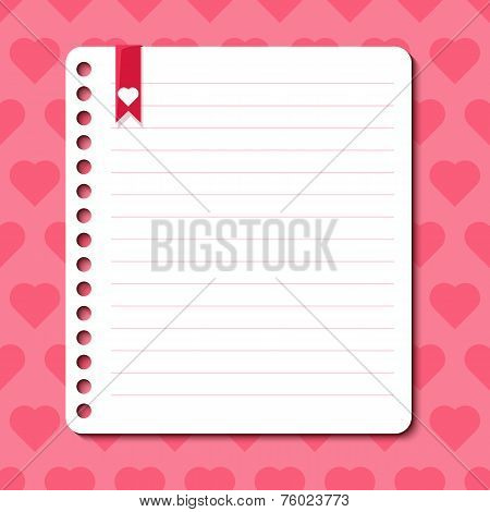 Vector background with hearts and space for text