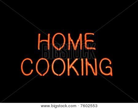 Home Cooking Neon Sign