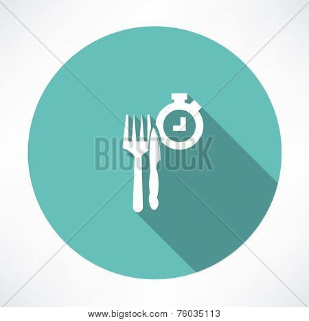 time to eat icon
