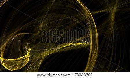 Yellow Texture On Black Bacground
