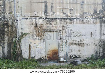 Old metal door with rust in Thailand poster