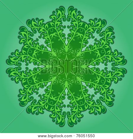 Filigree pattern with elements of branches and leaves poster