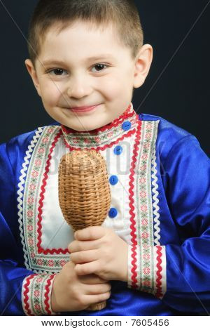 Little Boy Playing Maracas