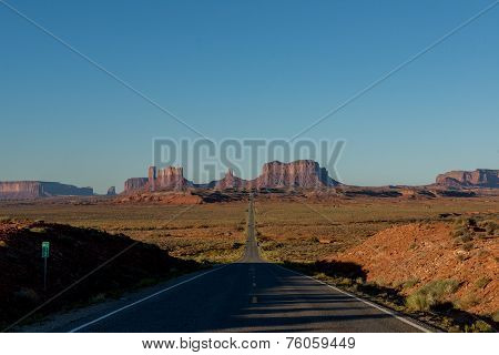 Morning At The Monument Valley. Utah.