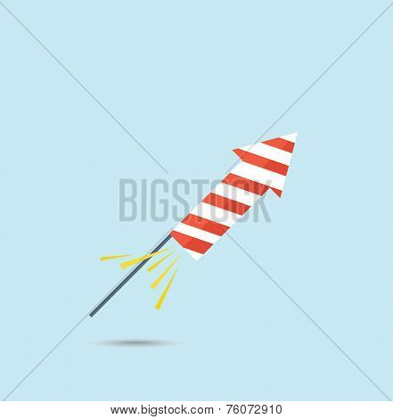 Pyrotechnic rocket