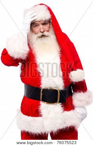 Santa Claus Suffering From Headache