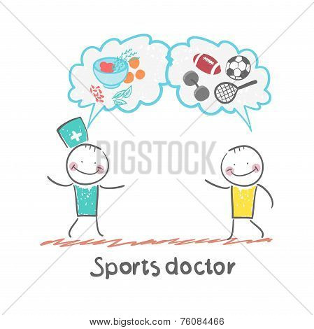 Sports doctor speaks to man of sport and healthy food