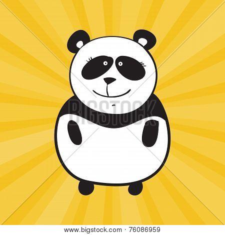 Vector smile panda