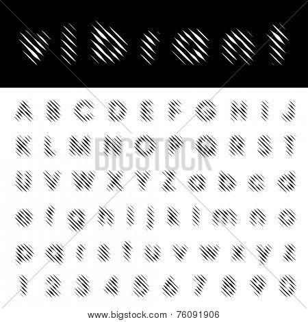 vector vibrant lines font  poster