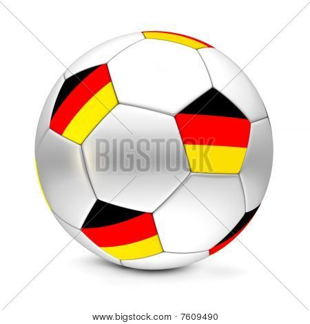 shiny football/soccer ball with the flag of Gremany on the pentagons poster