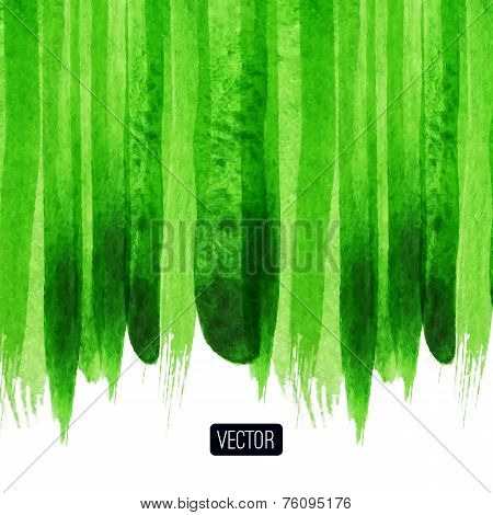 Vector abstract hand drawn background, green textured background