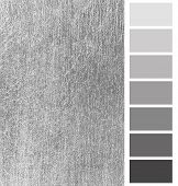 closeup of the silver scratched metal color complimentary palette poster