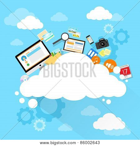 Cloud computing technology device set internet data information storage