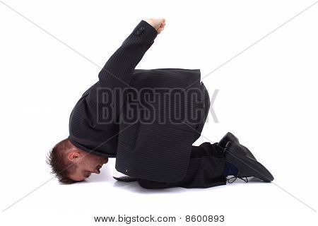 Young Manager And Yoga