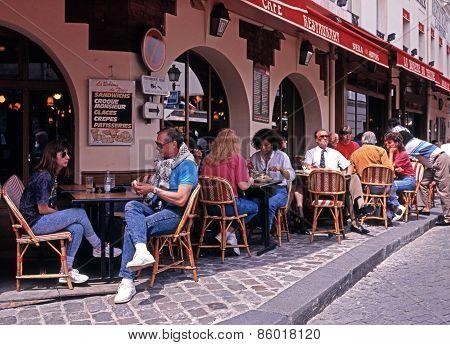 Pavement cafe, Paris.