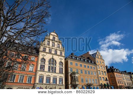 Buildings in the city center of Stockholm