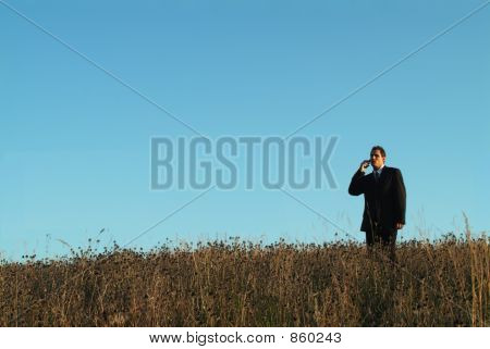 Businessman In Field