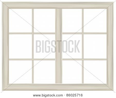 Vector window frame.