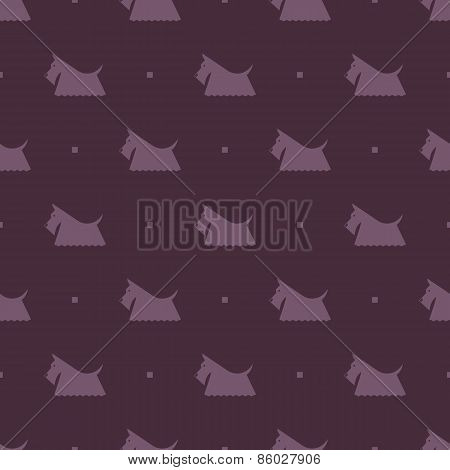 dog Scottish terrier pattern