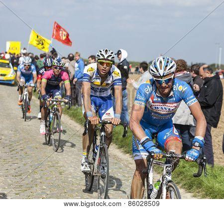 Group Of Cyclists- Paris Roubaix 2014