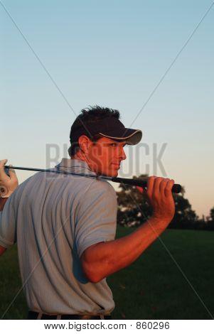 Male Golfer