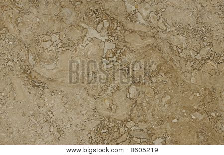 Surface Of The Travertine. Beige Colour.