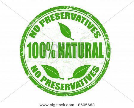 No Preservatives -100% Natural Stamp
