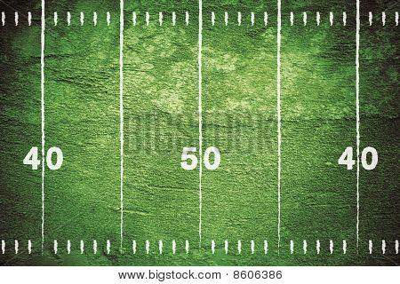 Grunge-Fußballplatz